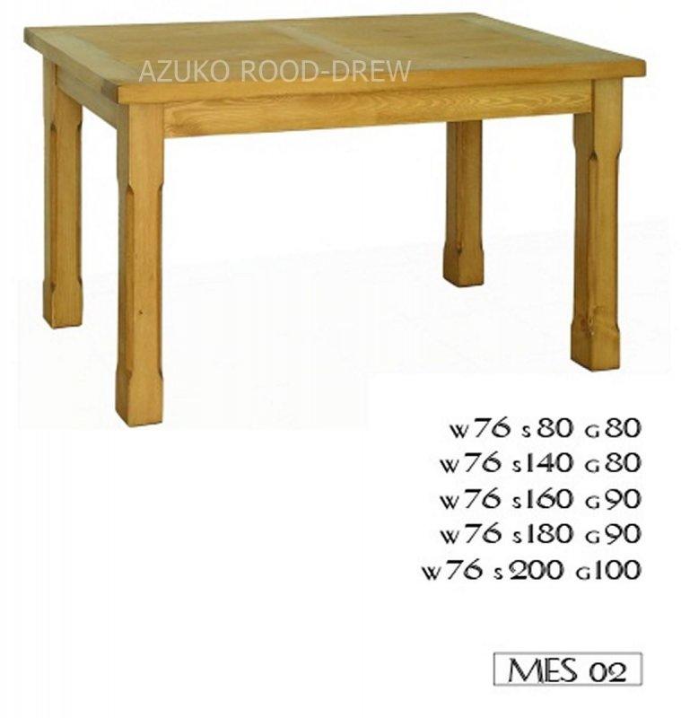 Kupić Stół drewniany rustykalny Mes 02