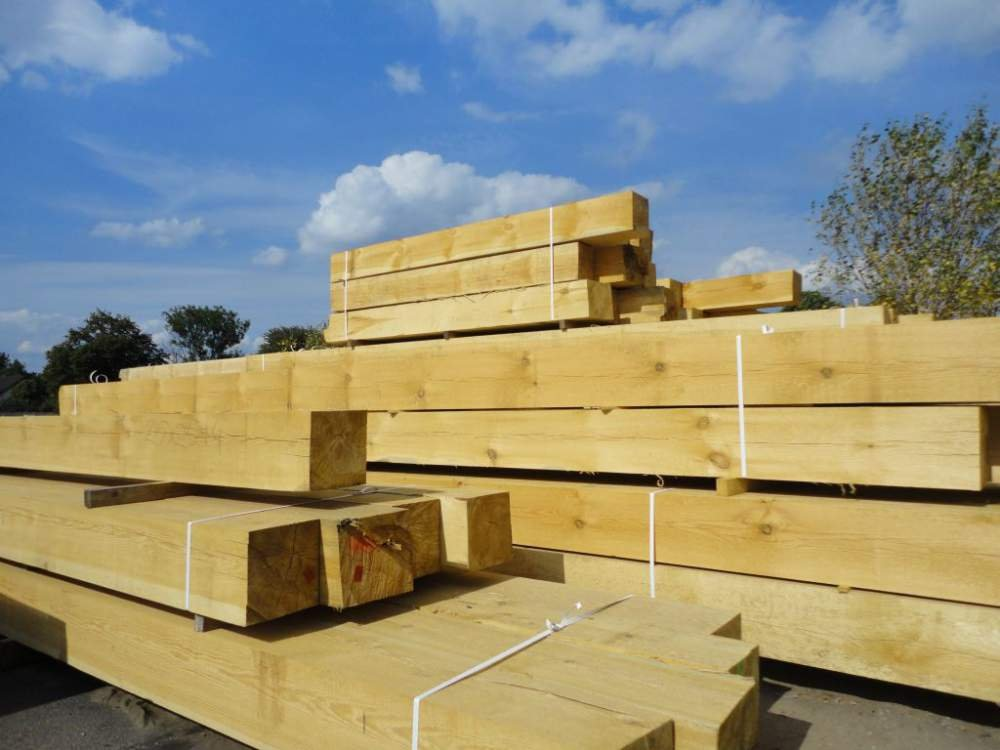 Krokwie, kantówki, łaty, deski, więźby dachowe