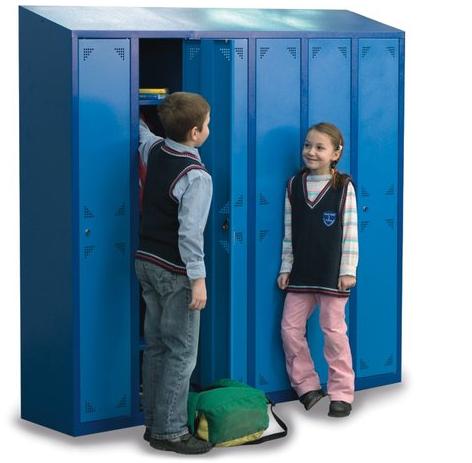 Kolorowe i ergonomiczne szafki szkolne z metalu