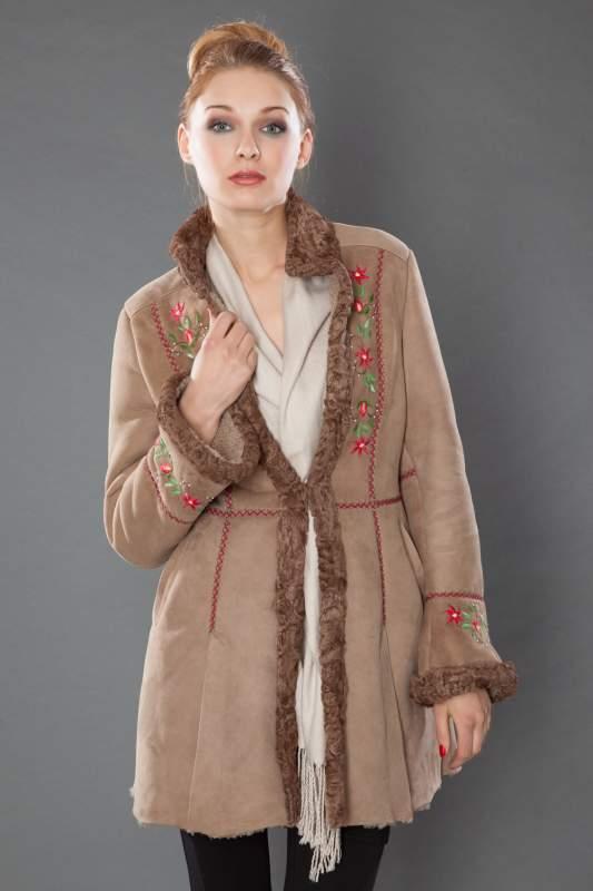 Kupić Kożuch naturalny,skóra owcza ,płaszcz