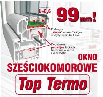 "Kupić Okna sześciokomorowe ""Top Termo"""