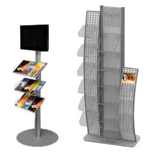 Kupić Mamy zaszczyt zaprezentować linię ekspozytorów wolnostojących z wykorzystaniem monitorów LCD