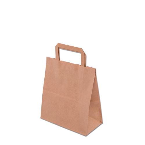 Imballaggi alimentari, sacchetto di carta macchiato e naturale