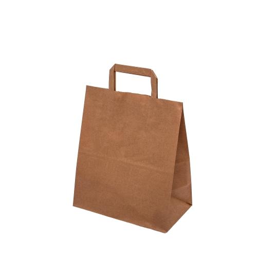 Naturlige økologiske poser av papir, med håndtak, uten håndtak