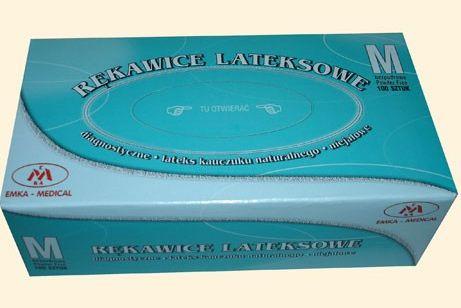Kupić EMKA-MEDICAL Rękawice lateksowe bezpudrowe