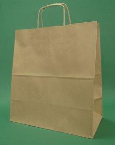 Sac en papier brun poignée 30x17x34 cm brin