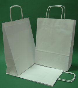 White paper bag twisted handle 24x10x32