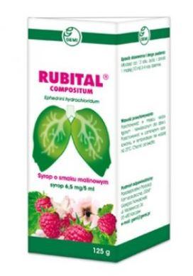 Kupić Rubital Compositum syrop, Ephedrini hydrochloridum (6,5mg/5ml), choroby gardła i układu oddechowego