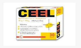 Kupić Ceel Acidum ascorbicum+int-rac-α-Tocopherylis acetas (50mg+100mg) lek wskazany w profilaktyce chorób serca i miażdżycy naczyń krwionośnych