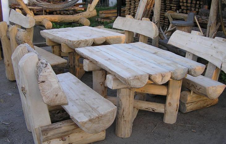 Meble ogrodowe z drewna naturalnego — Kupić Meble ogrodowe z drewna