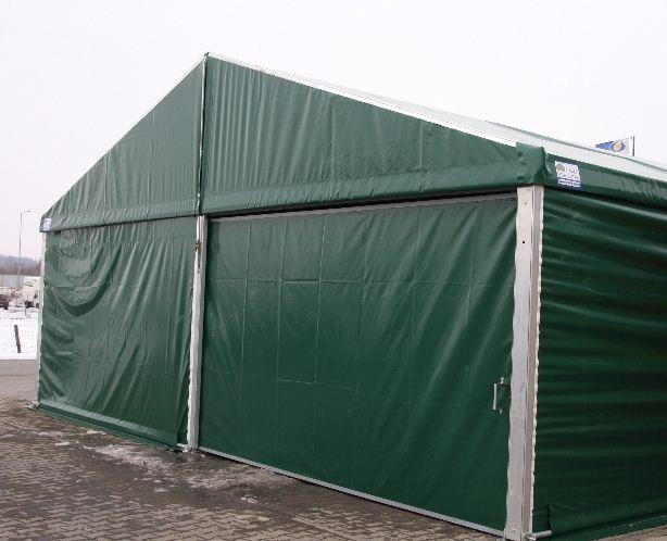 Kupić Hale aluminiowe, hangary namiotowe magazynowe, wiaty do przechowywania z dachem dwuspadowym.