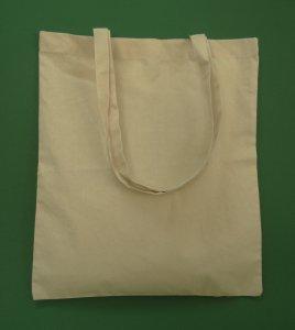 Acheter Sac en coton écru 38x42 cm long manche
