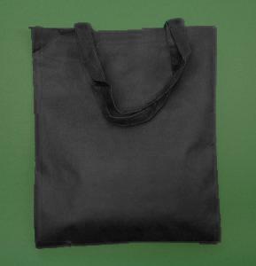 Torba materiałowa czarna 38x42 cm długi uchwyt