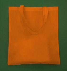 Borsa Arancione 38x42 cm lungo manico