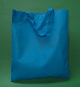 Sac fourre-tout bleu 36x42 cm manche court