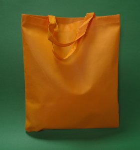 Τσάντα Πορτοκαλί 38x42 cm μικρή λαβή