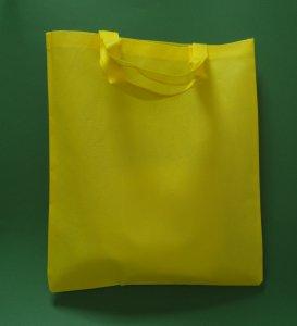 Torba materiałowa żółta 38x42 cm krótki uchwyt