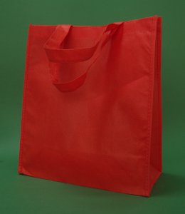 Tote red 30x15x35 cm (polypropylene PP)