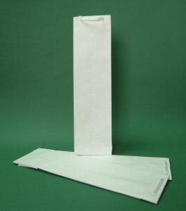 Prestige οικολογική χάρτινη σακούλα Λευκό 11x9x40 cm