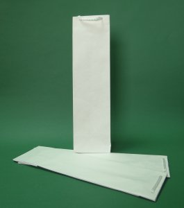 Prestige eco Papiertüte 11x9x40 cm Weiß