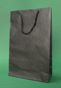 Prestige οικολογικού χαρτοσακούλα 17x7x25 cm μαύρο