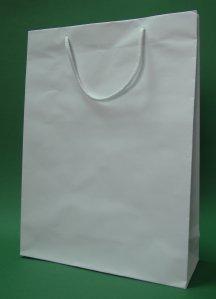Kupić Torba papierowa eco prestige 30x10x40 cm biała