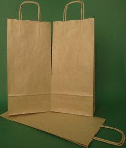 16x8x39 brun papirpose vridd håndtak