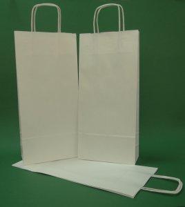 Kupić Torba papierowa biała 16x8x39 uchwyt skręcany