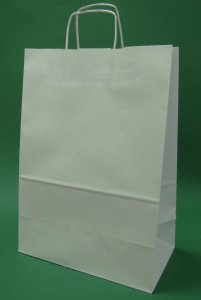 Kupić Torba papierowa biała 30x17x44 uchwyt skręcany