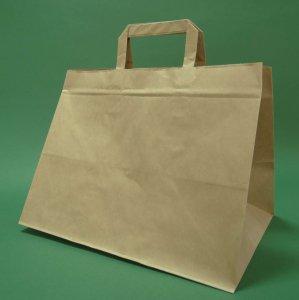 Kupić Torba papierowa z uchwytem płaskim 32x22x24, cm brązowa