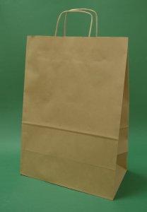 Kupić Torba papierowa brązowa 30x17x44 uchwyt skręcany