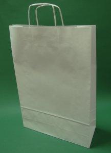 Kupić Torba papierowa biała 33x12x50 uchwyt skręcany