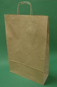 Kupić Torba papierowa brązowa 33x12x50 uchwyt skręcany