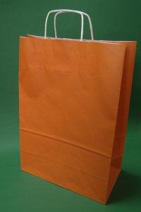 Kupić Torba papierowa pomarańczowa 30x17x44 cm uchwyt skręcany