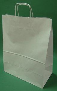 Kupić Torba papierowa biała 35x18x44 uchwyt skręcany