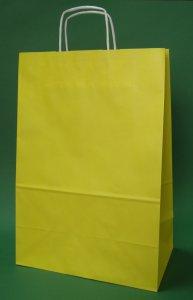 Kupić Torba papierowa żółta 30x17x44 cm uchwyt skręcany