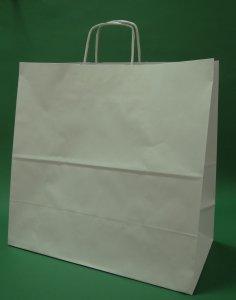 Kupić Torba papierowa biała 40x18x39cm uchwyt skręcany