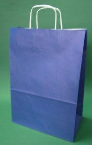 Kupić Torba papierowa granatowa 30x17x44 cm uchwyt skręcany