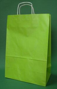 Kupić Torba papierowa jasnozielona 30x17x44 cm uchwyt skręcany