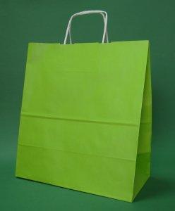 Kupić Torba papierowa jasnozielona 30x17x34 cm uchwyt skręcany