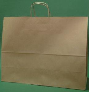 Kupić Torba papierowa brązowa 50x18x39 cm uchwyt skręcany