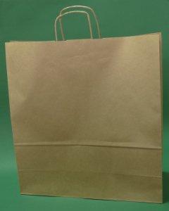 Kupić Torba papierowa brązowa 45x17x48 cm uchwyt skręcany
