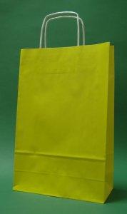 Kupić Torba papierowa żółta 24x10x32 cm uchwyt skręcany