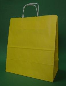 Kupić Torba papierowa żółta 30x17x34 cm uchwyt skręcany