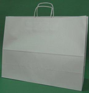 Kupić Torba papierowa biała 50x18x39 cm uchwyt skręcany