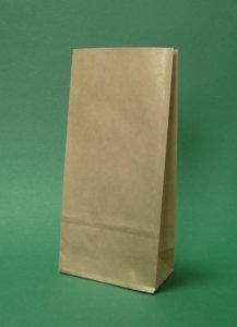 Kupić Torby papierowe bez uchwytu 8x6,5x19 cm brązowe -1500 szt.