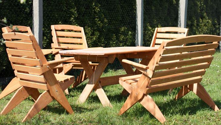 Kupić Komplet mebli ogrodowych wykonanych z drewna