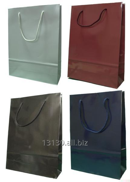 Laminated Bags (ad bag, occasional laminate finish) 24x9x32 cm, white