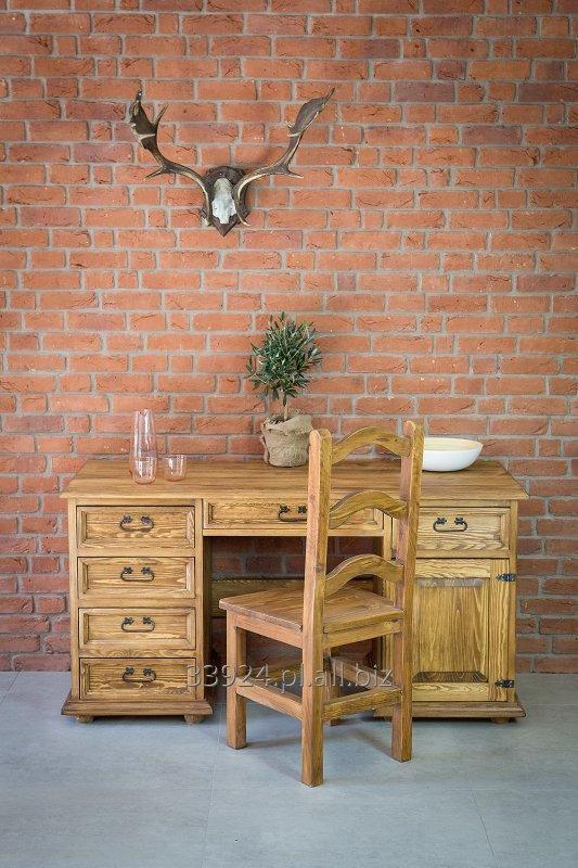 Drewniane Biurko Sosnowe Woskowane Rustykalne Kupić W Maków Podhalański