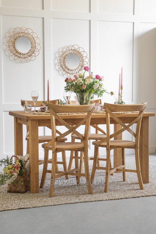 Kupić Krzesło drewniane rustykalne sosnowe woskowane SIL 02